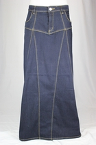 Fabulous Me Long Jean Skirt, Sizes 6-18
