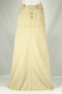 Feminine Long Khaki Skirt, sizes 6-18
