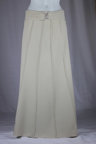 Flowing Panels Tan Long Skirt