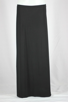 Girl Mink Black Long Skirt, Sizes 6-18