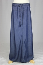 Girls Nan Dark Long Jean Skirt, Sizes 6-18