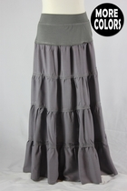 Girls Tiered Long Skirt, Sizes 6-18