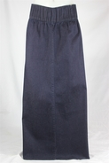 Ivette Dark Denim Long Jean Skirt, Sizes 6-16