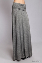 Kelly Fold Over Long Maxi Skirt, Sizes 6-16