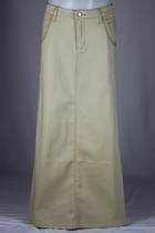 Khaki Beauty Long Skirt