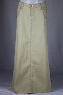Khaki Beauty Long Skirt, Sizes 6-18
