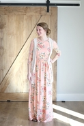Lauren Blush Long Modest Maxi Dress | Modest Floral Long Dress Size S-L