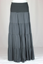 Lexington Long Tiered Maxi Skirt, Sizes 2-16