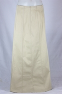 Long Paneled Khaki Skirt, Sizes 4-18