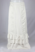 Margot Ivory Ruffles Layered Long Skirt, Sizes 6-18