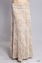 Miley Mocha Cream  Long Maxi Skirt, Sizes 2-18