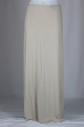 Tan Mink Long Knit Skirt, Sizes 0-16