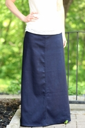 Modest Perfection Denim Skirt | Long Skirt Sizes 8-18