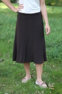Office Below the Knee Skirt | Brown Tea Calf Length Skirt Sizes 4-16