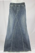 Pearly Vintage Denim Skirt, Sizes 6-18