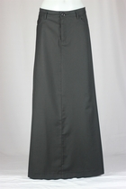 Plain Black Long Skirt, Sizes 6-18