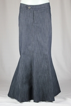 Princess Diana Long Blue Jean Skirt