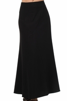 Princess Kate Black Long Skirt
