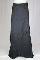 Royal Ruffles Long Jean Skirt, Sizes 8-18