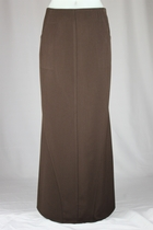 Side Pockets Brown Long Skirt
