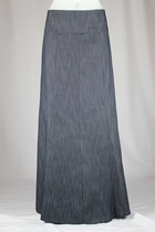 Simple Panels Blue Long Jean Skirt, Sizes 6-20
