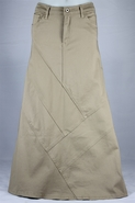 Simply Stunning Khaki Long Skirt, Sizes 2-14