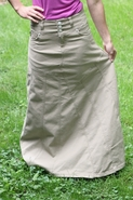 Victorian Grace Khaki Long Skirt, Sizes 6-18