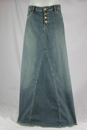 Vintage Dream Long Jean Skirt, Sizes 6-18