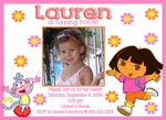 Custom Dora the Explorer Photo Birthday Invitations #3