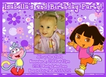 Custom Dora the Explorer Photo Birthday Invitations #5