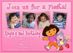 Custom Dora the Explorer Photo Birthday Invitations #6