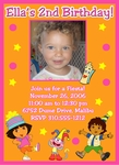 Custom Dora the Explorer Photo Birthday Party Invitations #11