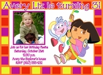 Custom Dora the Explorer Photo Birthday Party Invitations #14