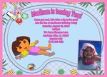 Custom Dora the Explorer Photo Birthday Party Invitations #15
