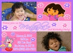 Custom Dora the Explorer Photo Birthday Party Invitations #18