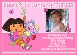 Custom Dora the Explorer Photo Birthday Party Invitations #7