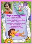 Custom Dora the Explorer Photo Birthday Party Invitations #9