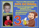 Custom Photo Birthday Invitation Curious George 4