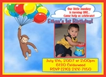 Custom Photo Birthday Invitations Curious George 2