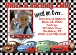 Custom Photo Birthday Invitations Disney Cars #1