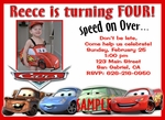 Custom Photo Birthday Invitations Disney Cars#2