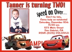 Custom Photo Birthday Invitations Disney Cars#3