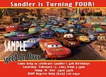 Custom Photo Birthday Invitations Disney Cars #4