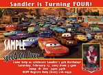 Custom Photo Birthday Invitations Disney Cars #5