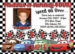 Custom Photo Birthday Invitations Disney Cars #6