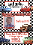 Custom Photo Birthday Invitations Disney Cars #7