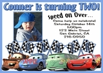 Custom Photo Birthday Invitations Disney Cars#8