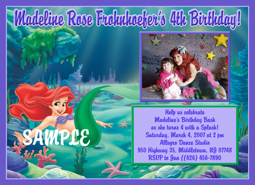 Personalized Birthday Invitations gangcraftnet – Personalized Disney Birthday Invitations