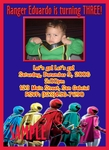 Custom Photo Birthday Invitations Power Ranger