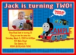 Custom Photo Birthday Invitations Thomas the Tank Engine Train #3